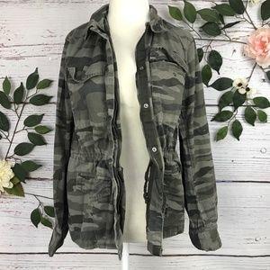 A.N.A. Size Medium Zip Up Camo Jacket